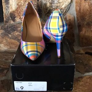 JCrew plaid pumps